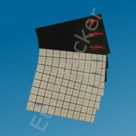 Klebeflächen schwarz Pappe - 6 Stück